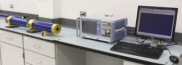 Test equipment on a bench