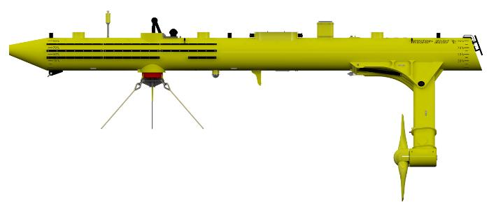 Some key benefits of the Scottreneable design include that it is a Floating design so the turbines can be placed in regions of typically highest tidal velocity (up to 50% higher energy availability compared to seabed mounted devices). All installation and maintenance operations can be undertaken using small low costs vessels. A Compliant Mooring System allows deployment in deep waters. And a Passive Yaw System improves energy conversion and simplifies design.