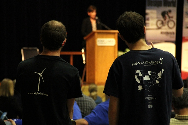 Also dropping by Iowa Lakes for KidWind and WindTech was Lt. Governor Reynolds, the Co-Chair of the Governor's STEM (Science, Technology, Engineering, and Math) Advisory Council. She spoke during lunch.
