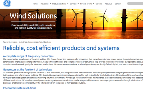 GE Power Conversion helps to build the future of wind power