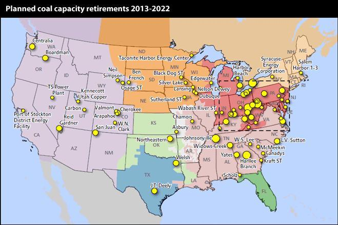 Thousands Of Coal Fired Mw Have Retired And More To Come - Coal-map-us