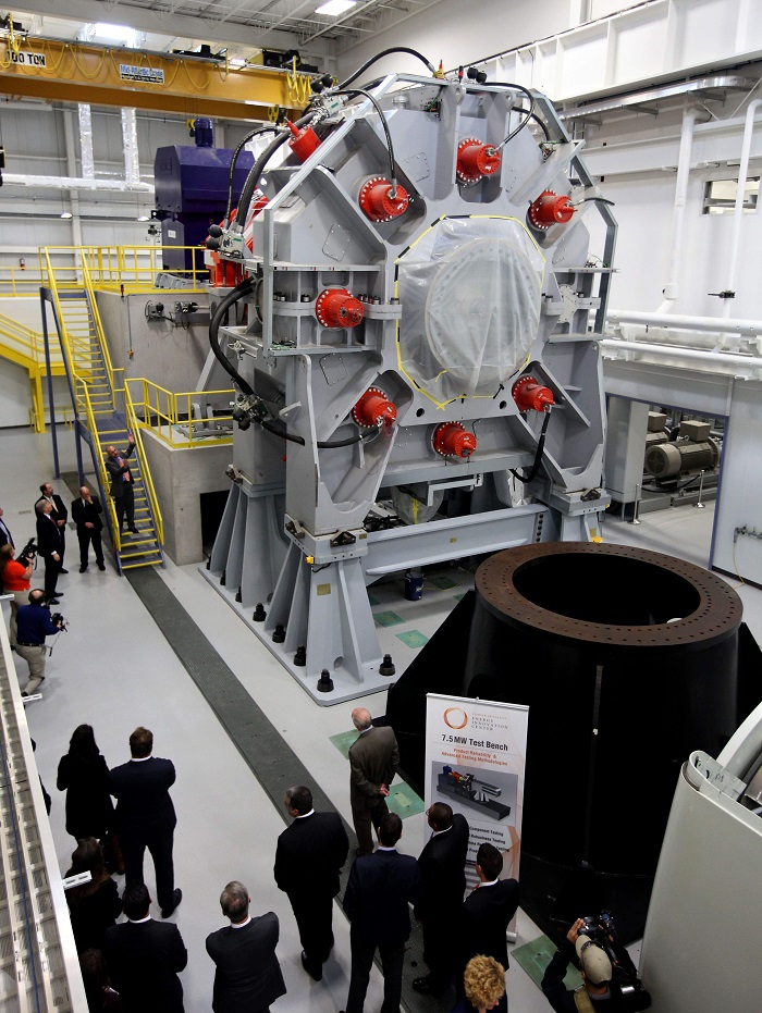 The 7.5 MW test bench is part of the CURI facility at Clemson U.