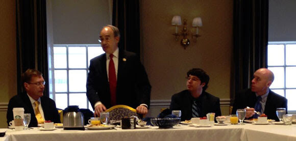 At center left, Rep. Bruce Poliquin (R-ME-2) addresses ACMA members during Infrastructure Day.