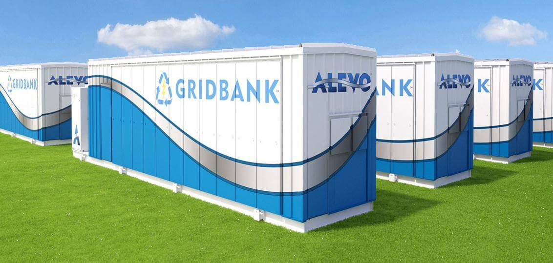 The project will consist of three Alevo GridBank energy storage systems (like that pictured) and six Parker-Hannifin 890-GTB Power Conversion Systems (not shown).