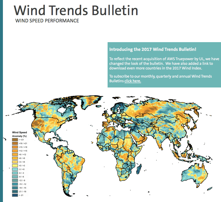 Aws truepower releases february 2017 wind trends bulletin renewable energy consultants aws truepower have released their wind trends bulletin for february 2017 monthly wind performance maps for february show gumiabroncs Images